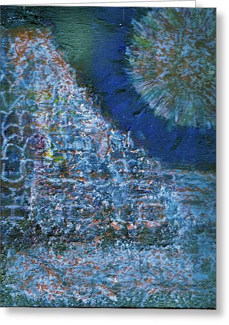 Somewhere On Jupiter Greeting Card by Anne-Elizabeth Whiteway