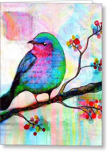 Songbird Greeting Card by Robin Mead
