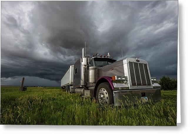 Soul Of A Trucker  Greeting Card by Aaron J Groen