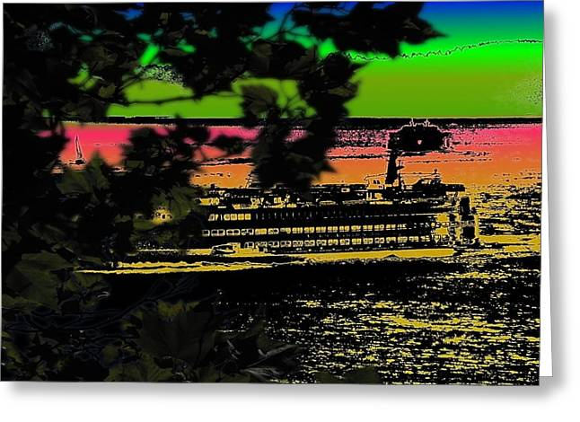Soundside Treehouse View Greeting Card by Tim Allen