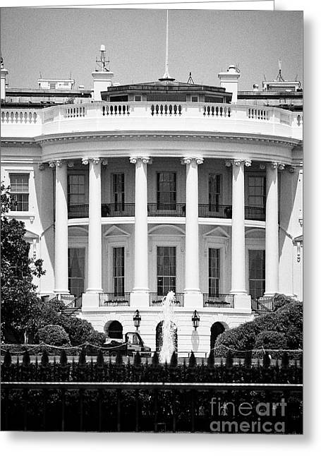 south facade of the white house Washington DC USA Greeting Card by Joe Fox