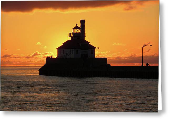 South Pier Sunrise Greeting Card