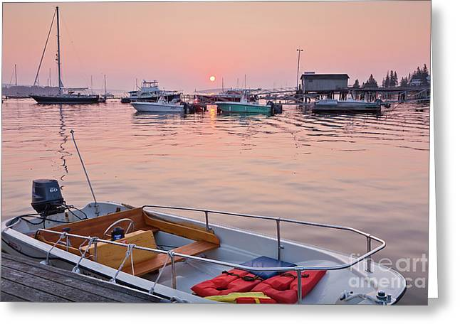 Greeting Card featuring the photograph Southwest Harbor Sunrise by Susan Cole Kelly