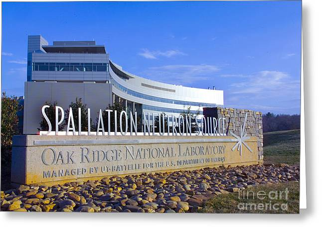 Neutron Greeting Cards - Spallation Neutron Source Greeting Card by Science Source