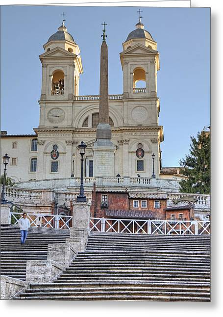 spanish steps in Rome Greeting Card by Joana Kruse