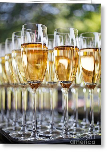 Sparkling Wine Greeting Card by Kati Molin