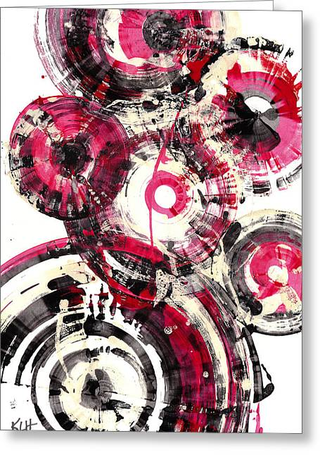 Greeting Card featuring the painting Sphere Series 1025.050412 by Kris Haas