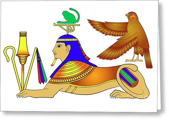 Sphinx - Mythical Creatures Of Ancient Egypt Greeting Card by Michal Boubin