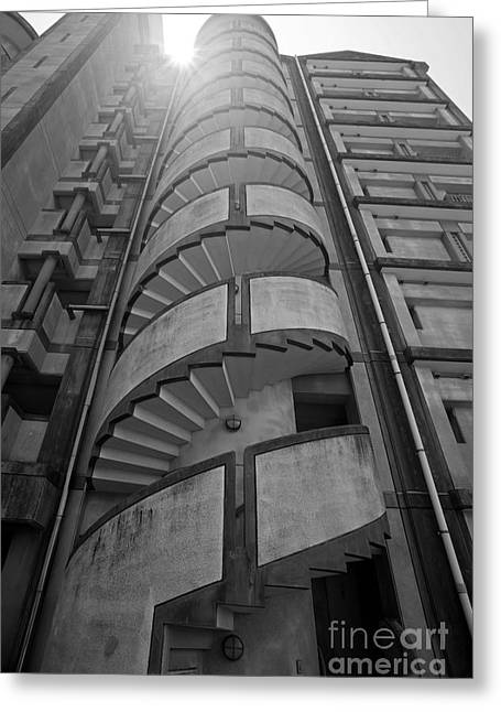 Greeting Card featuring the photograph Spiral Staircase by Aiolos Greek Collections