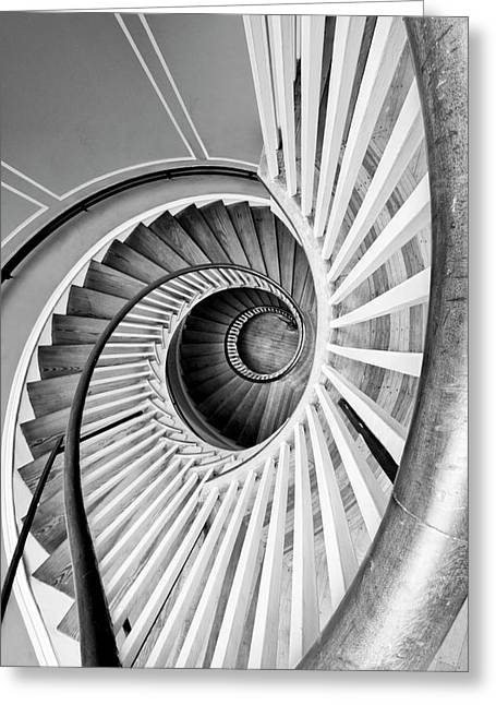 Spiral Staircase Photographs Greeting Cards - Spiral Staircase Lowndes Grove Greeting Card by Dustin K Ryan