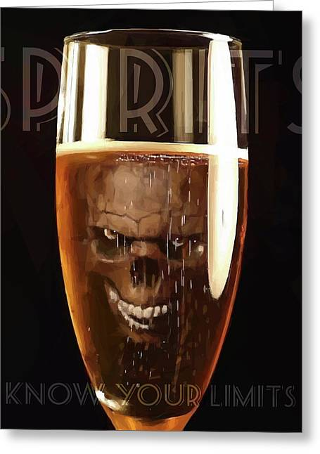 Spirits - Know Your Limits Greeting Card by ISAW Gallery