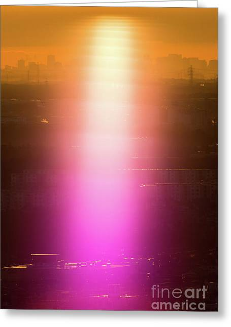Spiritual Light Greeting Card by Tatsuya Atarashi