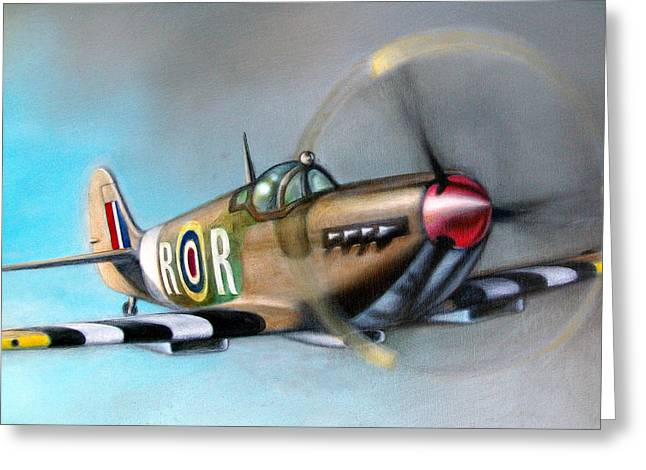 Spitfire  Greeting Card by Riek  Jonker