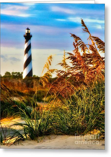 North Carolina Wall Art Greeting Cards - Splendid Sunset on Hatteras Greeting Card by Dan Carmichael