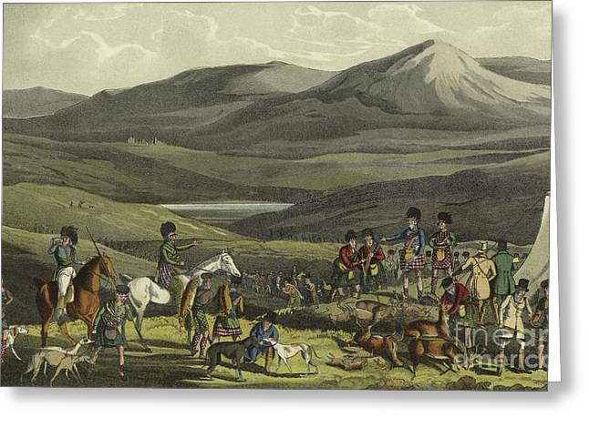 Sporting Meeting In The Highlands Greeting Card by Henry Thomas Alken