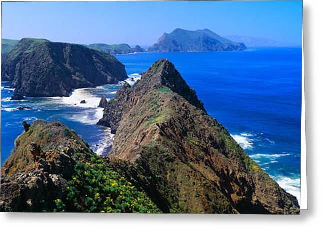 Spring At Anacapa Island, Channel Greeting Card by Panoramic Images