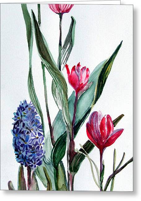 Spring Bulbs Greeting Card by Mindy Newman