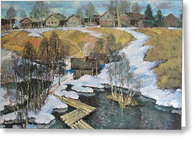 Spring Flood Greeting Card by Mark Kremer