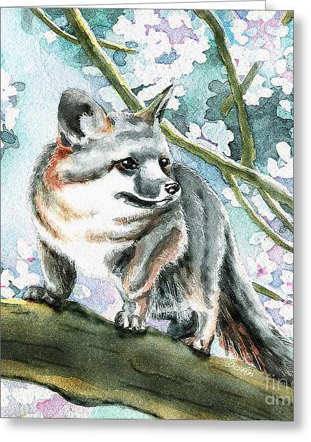 Spring Fox Greeting Card