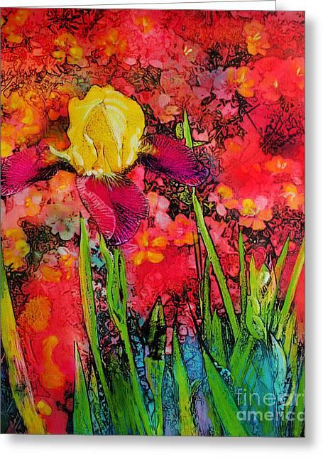 Spring Iris Greeting Card