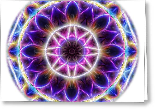 Spring Energy Mandala 2 Greeting Card