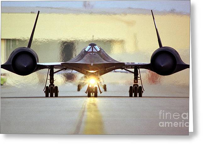 Sr-71 Blackbird, 1990s Greeting Card by Science Source