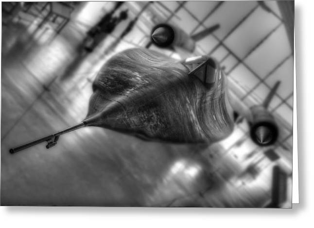 Sr 71 Greeting Card by Perry Johnson