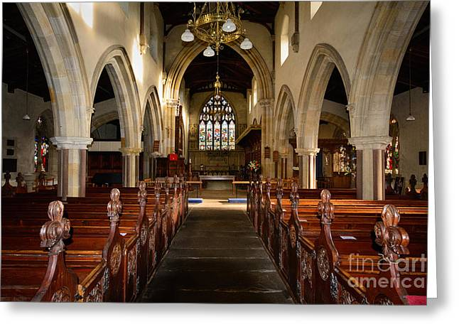 St Andrews Church, Aysgarth Greeting Card by Nichola Denny