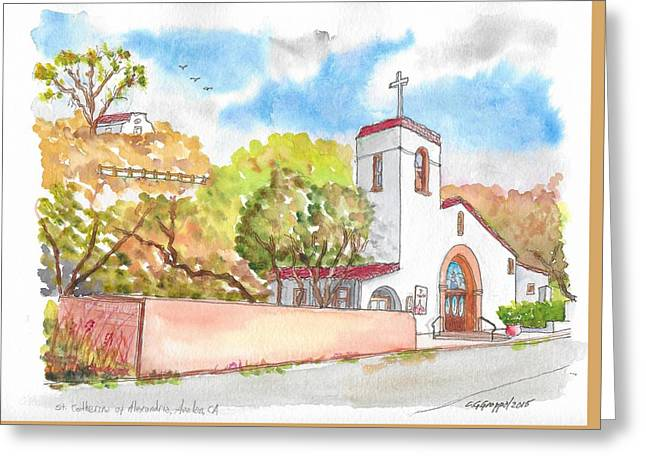 St. Catherine Of Alexandria Catholic Church, Avalon, Santa Catalina Island, Ca Greeting Card