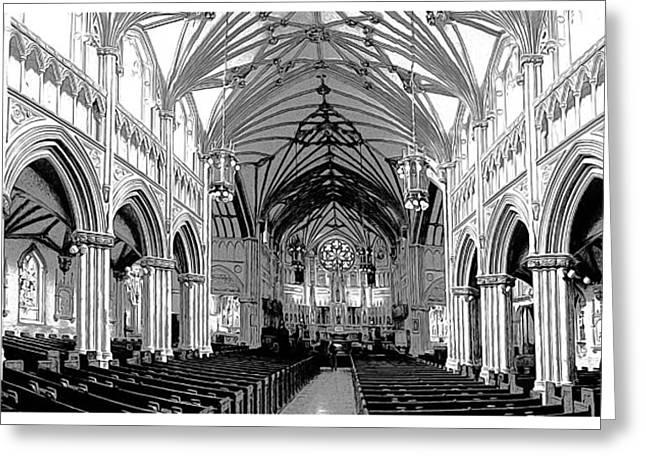 St Dunstans Basilica Greeting Card by Greg Joens