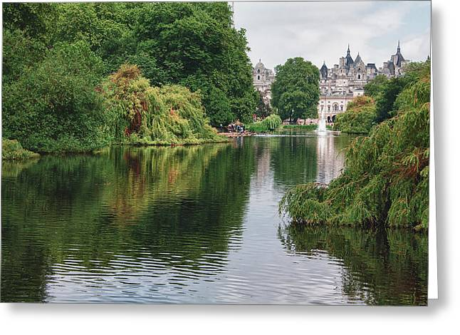 St James Park Greeting Card by Shirley Mitchell
