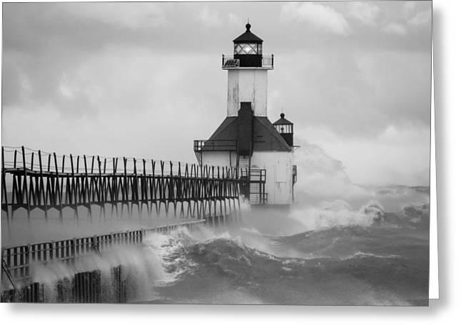 St. Joseph North Pier Lighthouse Greeting Card
