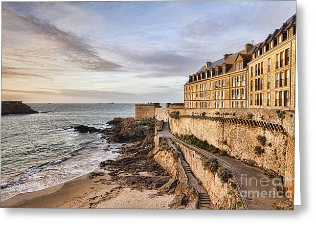 St Malo Brittany France Greeting Card