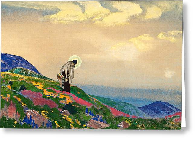 St. Panteleimon The Healer Greeting Card by Nicholas Roerich