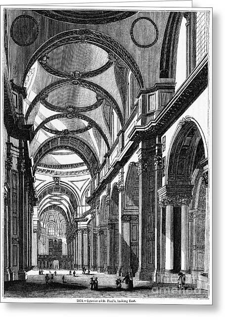 St. Pauls Cathedral, 19th Century Greeting Card by Middle Temple Library
