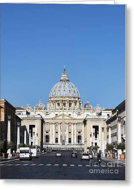 St. Peter's Basilica Greeting Card by John Greim