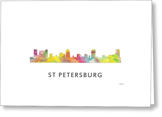 St Petersburg Florida Skyline Greeting Card by Marlene Watson