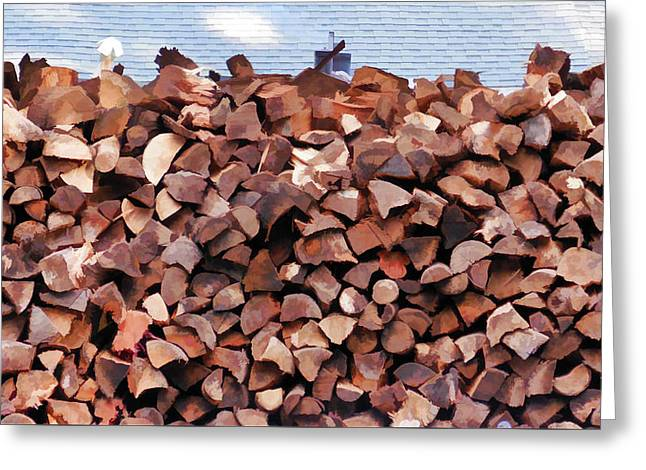 Stack Of Firewood  Greeting Card
