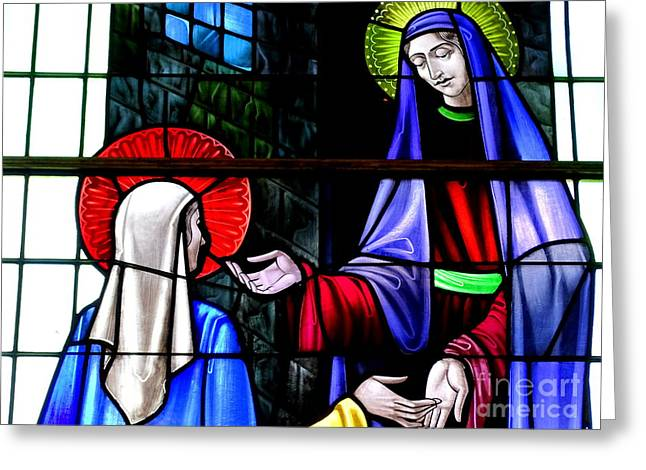 Stained Glass Beauty #16 Greeting Card by Ed Weidman