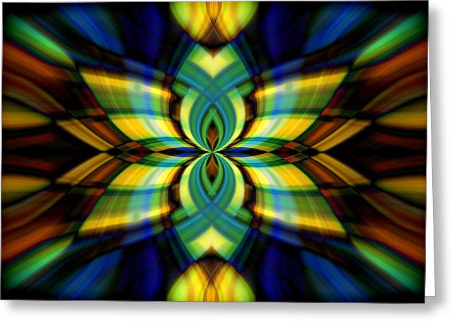 Greeting Card featuring the photograph Stained Glass by Cherie Duran