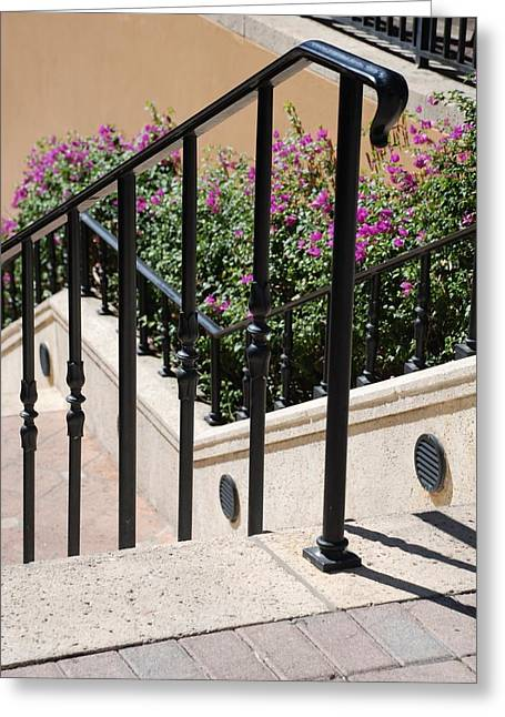 Stairs And Rails Greeting Card by Rob Hans