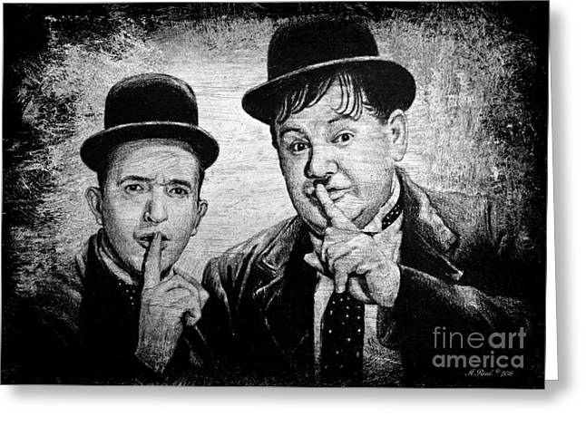 Stan And Ollie Greeting Card