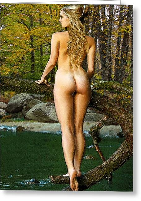 Best Sellers -  - Stream Digital Art Greeting Cards - Standing On A Branch Greeting Card by Val Designs