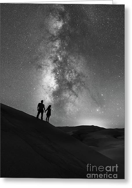 Star Crossed Lovers  Greeting Card by Michael Ver Sprill