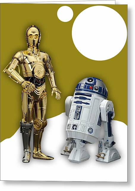 Star Wars C-3po And R2-d2 Greeting Card