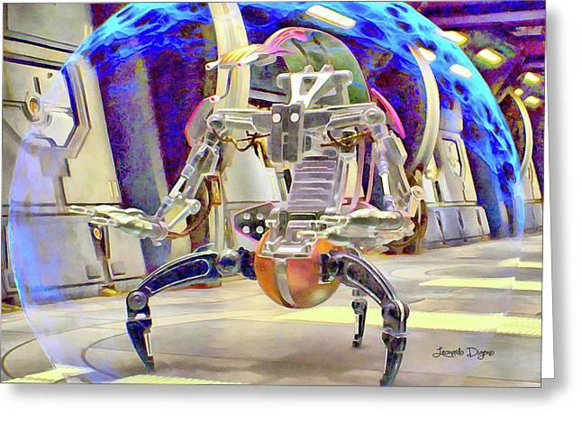 Star Wars Destroyer Droid Greeting Card