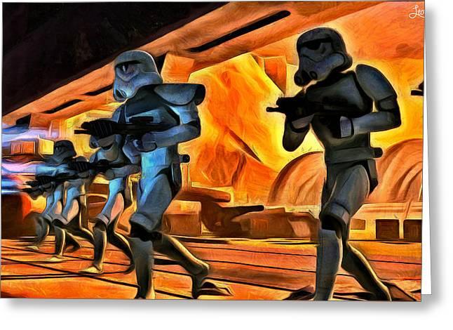 Star Wars Invasion Greeting Card by Leonardo Digenio