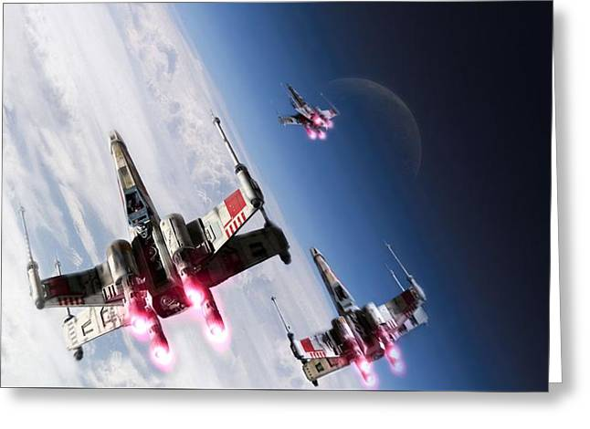 Star Wars Xwings                    Greeting Card
