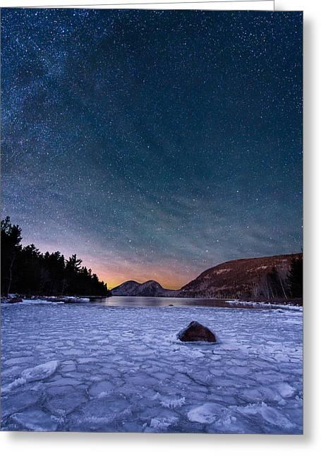 Stars On Ice Greeting Card