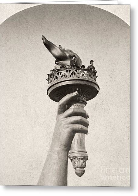 Statue Of Liberty, 1876 Greeting Card by Granger